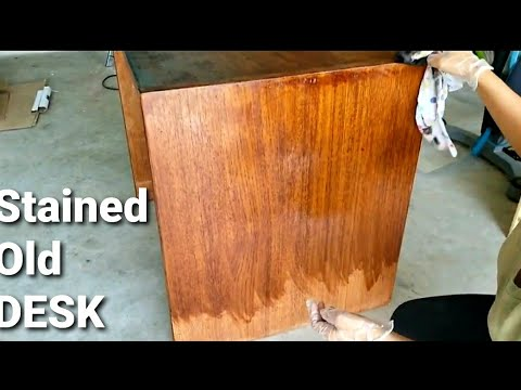 DIY | How To Stain Wood - Updating and Staining My Old Wooden Desk