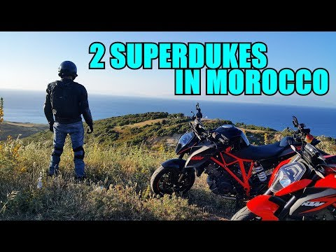 Two KTM Superduke 1290 R In Morocco.