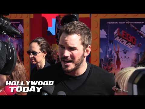 Chris Pratt on the Red Carpet of The LEGO Movie & Shares Voice Over Secrets
