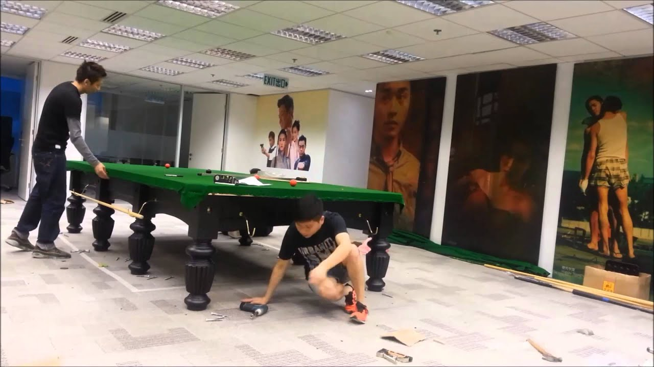 Full Size Snooker Table Installation by HONG KONG - YouTube