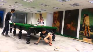 Full Size Snooker Table Installation By Hong Kong