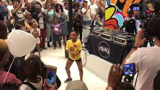 DJ Arch Jnr Performing At Sandton City Mall Fun District Launch With His Dancer BK.