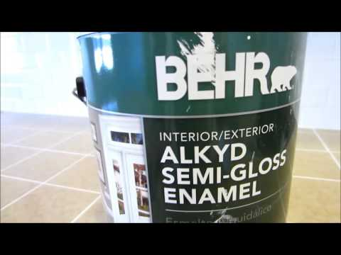 Acrylic Vs Latex Paint >> BEHR Alkyd Semi-Gloss Enamel | Doovi