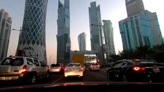 DRIVING IN QATAR - DOHA, DOWNTOWN - Gopro Hero6