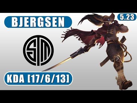 TSM Bjergsen | Yasuo vs Vladimir | Mid | December 8th, 2015 | Preseason 6 | Patch 5.23