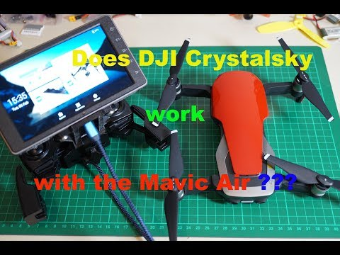 DJI Mavic Air and the Crystalsky monitor from DJI