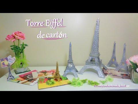 Torre Eiffel / DIY / Como hacer una Torre Eiffel de cartón