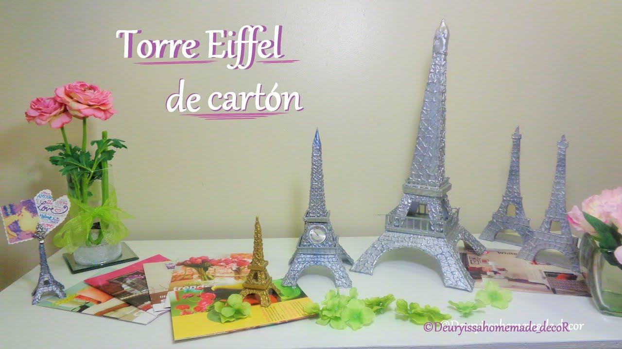 Torre Eiffel / DIY / Como hacer una Torre Eiffel de cartón - YouTube
