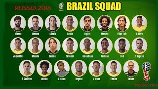 Fifa World Cup 2018 | Brazil Official Team Squad For World Cup 2018