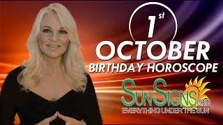 Birthday October 1st Horoscope Personality Zodiac Sign Libra Astrology