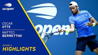 Matteo Berrettini vs Oscar Otte Highlights | 2021 US Open Round 4
