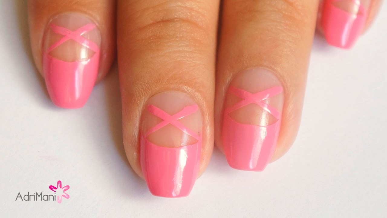 Uñas de Ballet Punta Coffin - Ballerina Nail Art - YouTube