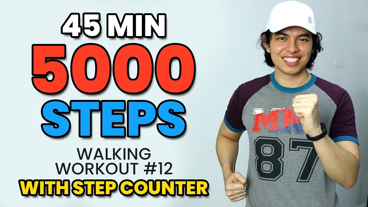 FUN 5000 Indoor STEP Challenge • Burn Calories! • Walking Workout #12 • Keoni Tamayo