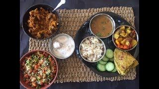 Easy Veg Indian Thali Recipe - Karva Chauth Special   Karva Chauth Thali Ideas
