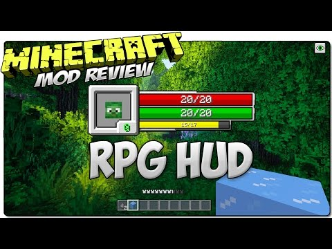 RPG HUD MOD MINECRAFT 1.7.10 | Cambia El Hud En Minecraft | MOD REVIEW ESPAÑOL