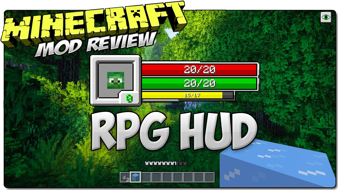 Rpg Hud Mod Minecraft  Cambia El Hud En Minecraft Mod Review Espanol Youtube