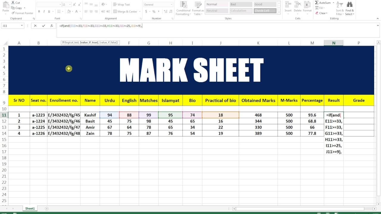 excel sheet 8