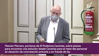Manolo Marrero sobre la situación de los interinos en la Administración Pública