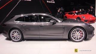 2018 Porsche Panamera Turbo Sport Turismo - Exterior and Interior Walkaround - 2017 Geneva Mo
