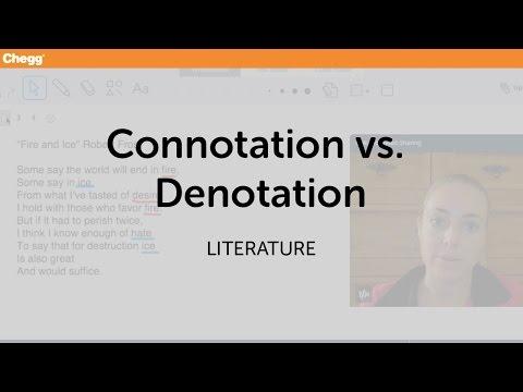 Connotation vs. Denotation | Literature | Chegg Tutors