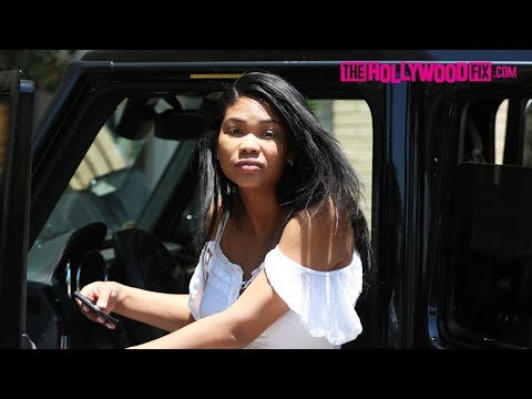 Chanel Iman & Sterling Shepard Celebrate July 4th While Pregnant With Lunch At Barneys 7.4.18