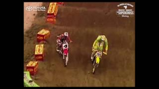 Travis Pastrana vs Ricky Carmichael 2002 Indy SX: Toyota Moment in Supercross History