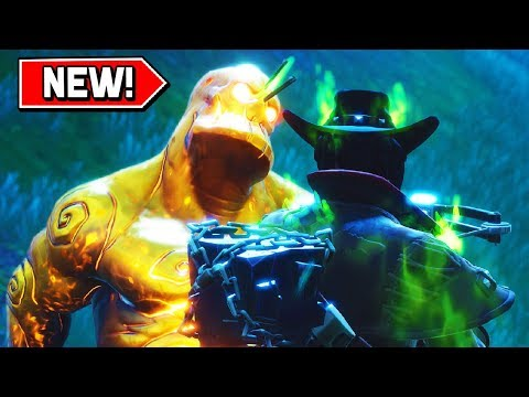 *FREE* LEGENDARIES FROM GOLD CUBE MONSTERS In Fortnite! (Fortnitemares Halloween Event)