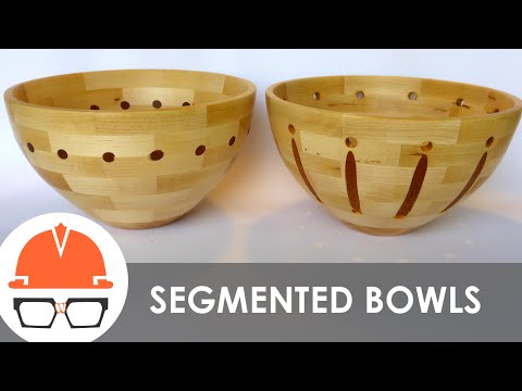 Turning Two Segmented Bowls on the Lathe - Maple with Mahogany Accents