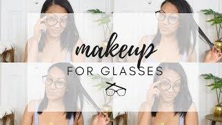 Makeup for Glasses | Oily Skin | Feat. Quay Australia Blue Light Glasses