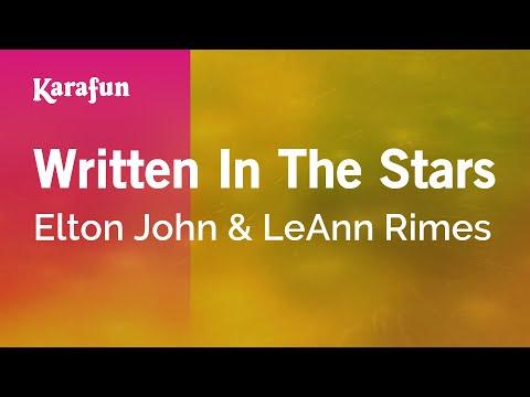 Karaoke Written In The Stars - Elton John *