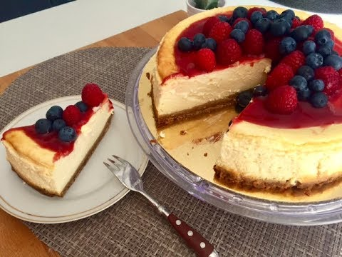 CHEESECAKE aux fruits rouges / recette facile. - YouTube