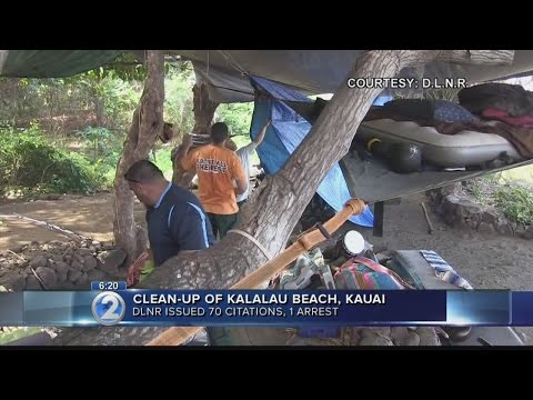 One arrested, dozens cited during state crackdown at Kalalau Beach
