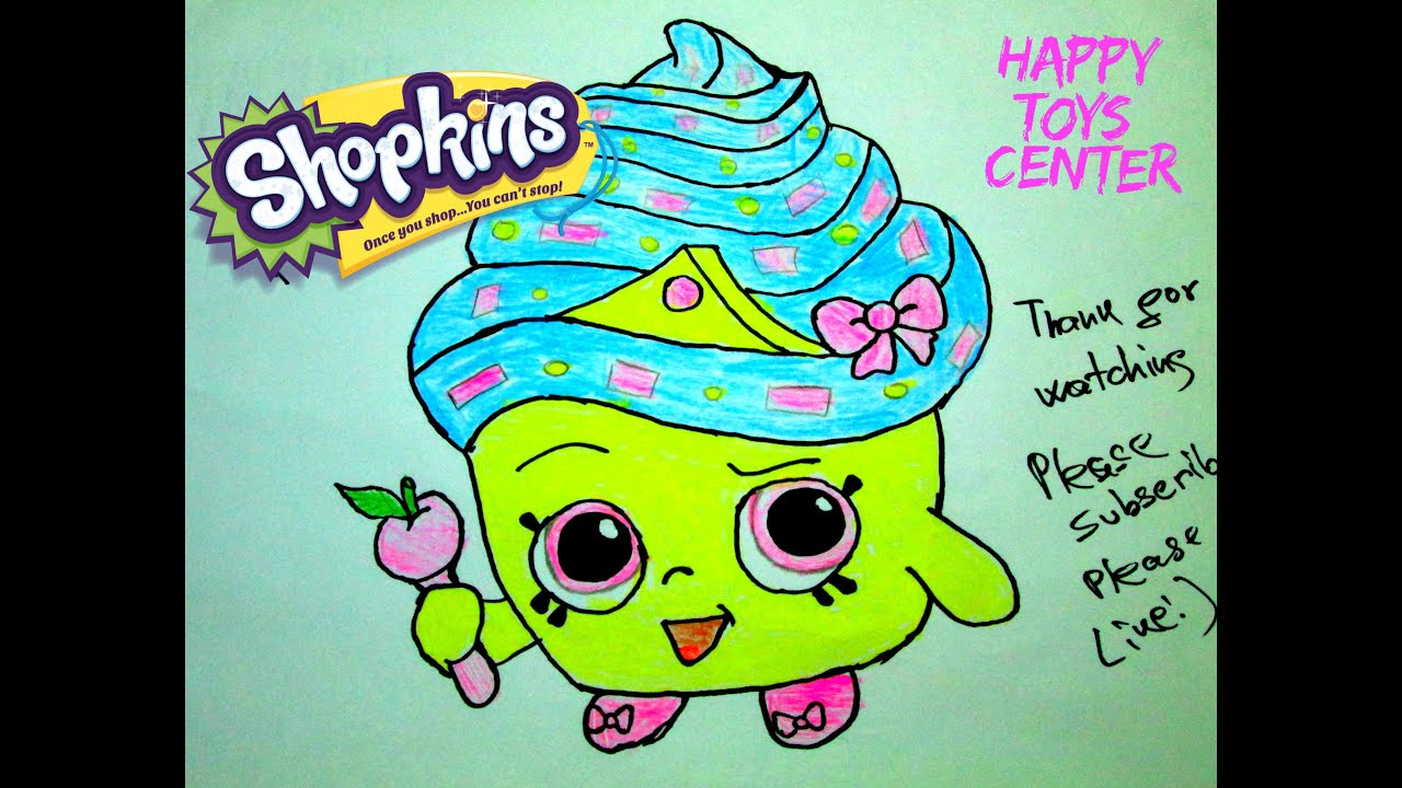 Shopkins coloring pages cupcake - Shopkins Cupcake Queen Coloring Season 1 For Kids Draw Happy Toys Center