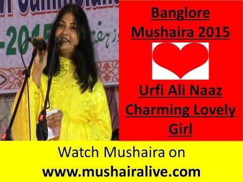 lovely charming girl-  Urfi Ali Naaz- Bangalore Mushaira  2015