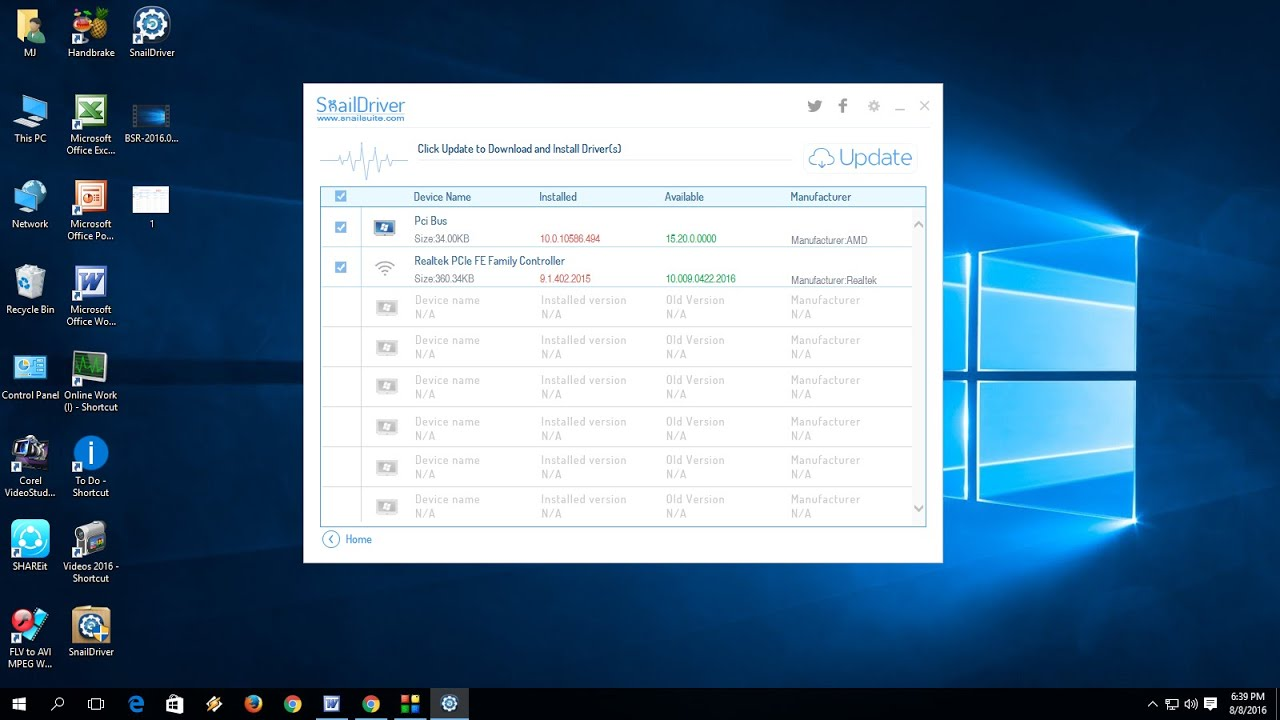 Free: How to Download Install Update Driver for Windows PC 10/8 1/7 (Snail  Driver)