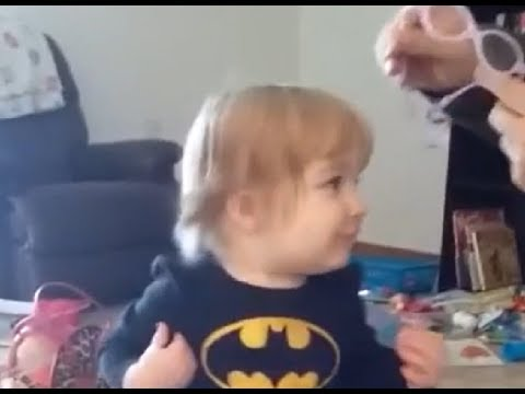 Joey Brooks - Toddler Has Adorable Reaction To Seeing With New Glasses