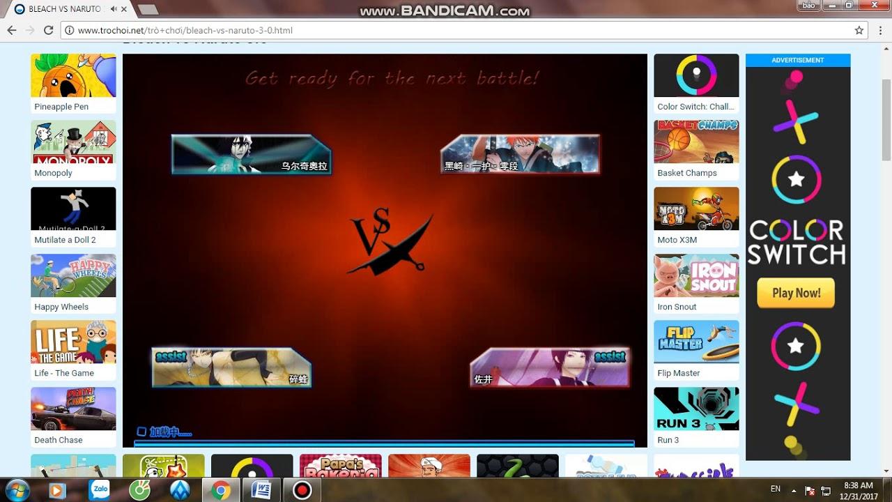 Hướng dẫn chơi game naruto 3.0 trên PC