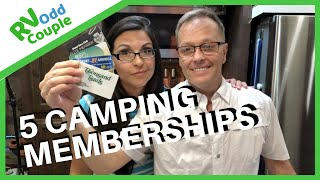 5 RV Campground Memberships we Use & Don't Use for Full-time RV Life