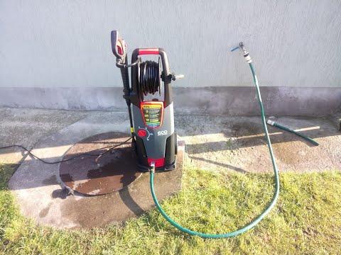 Testing ECO HPW-1825rse Pressure Washer.  180Bar HD