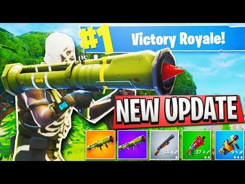 "Fortnite ""Guided Missile Launcher"" GAMEPLAY + NEW ""Blue Pump"" Shotgun in Fortnite Battle Royale!"