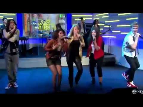 Lemonade Mouth Cast   Determinate Live On Good Morning America