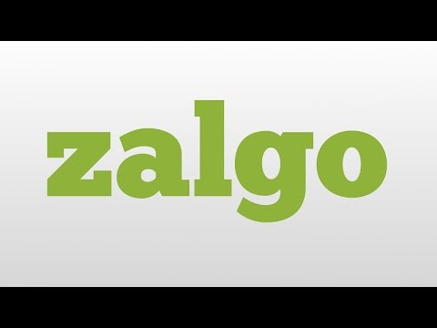 zalgo meaning and pronunciation