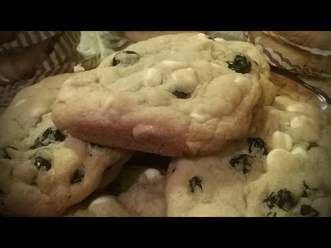How To Make White Chocolate Cookies/ With Blueberries