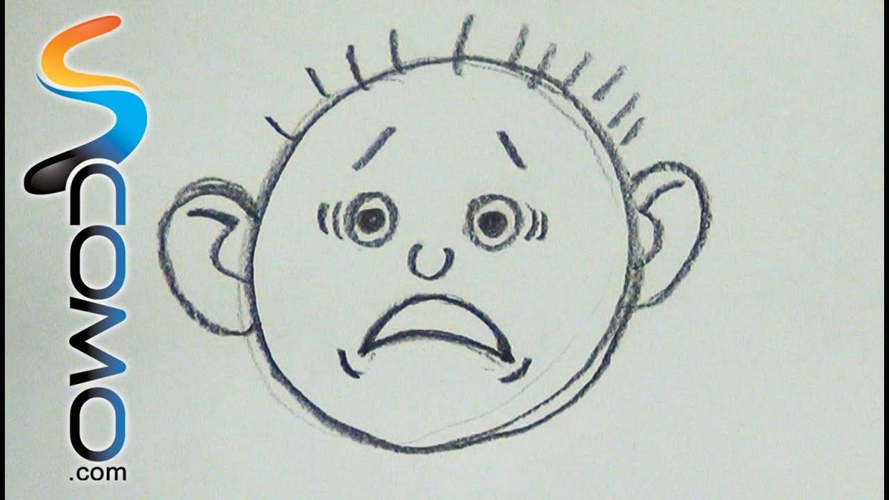 Dibujar Expresion De Miedo Draw Worry Faces Youtube Caras De Miedo Miedo Miedos
