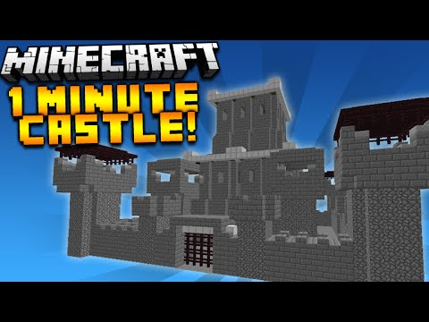 ★MINECRAFT CASTLE IN UNDER 1 MINUTE! - Minecraft 1.8 One Command Creation Instant Castles★