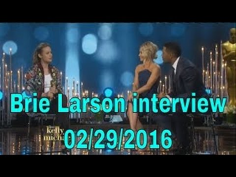Brie Larson interview Live! With Kelly and Michael 02/29/16