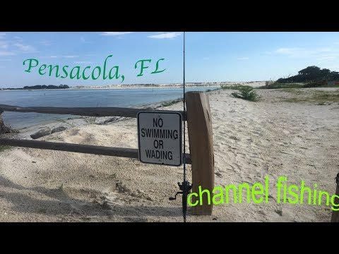 Channel Fishing For REDFISH  **exploring Pensacola, FL|**