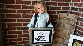 Parker's FIRST Day of PRESCHOOL!