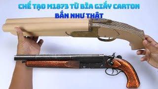 Hướng dẫn chế tạo khẩu súng M1873 trong Free Fire Ngoài đời thực bằng bìa carton (các tông)
