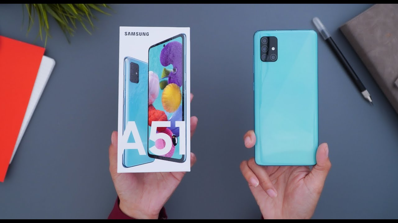 Unboxing Samsung Galaxy A51 - Prism Crush Blue Indonesia! - YouTube
